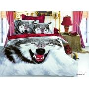 Постельное белье ARYA печатное 160х220 SIBERIAN WOLF
