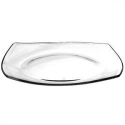 Тарелка «Студио» 26*26см прозр.стекло