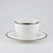 Чашка 210мл с блюдцем 15,5см «Серебряная вышивка»