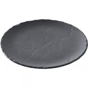 Тарелка мелкая «Базальт» D=16см; черный