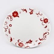 Набор 6 тарелок подстановочных 27см «Амата Красный»