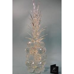 Ананас большой прозрачный, прозрачный лист d 50 14х45 см