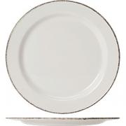 Тарелка мелкая «Браун дэппл» D=25см; белый, коричнев.
