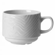 Чашка чайная «Оптик», фарфор, 170мл, D=70,H=55,L=110мм, белый