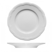 Тарелка мелкая «Штутгарт», фарфор, D=24см, белый