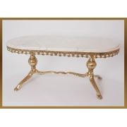 Стол овальный золотистый 47х107х49 см.