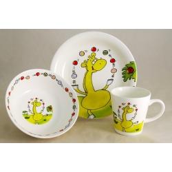 Детский набор посуды из 3-х предметов «Жираф»