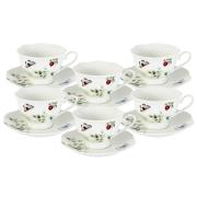 Набор: 6 чашек + 6 блюдец Ягодная поляна