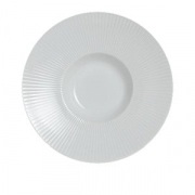 Тарелка глуб. с широк.бортом «Соната», фарфор, D=16см, белый