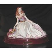 2801L статуэтка «Дама Скарлет» 19;см
