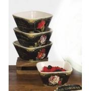 Набор 4-х салатников 13 см «Цветущий сад»
