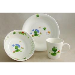 Детский набор посуды из 3-х предметов «Лягушонок»