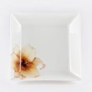 Салатник квадратный 25,4см «Бежевая лилия»