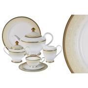 Чайный сервиз Вуаль кремовая 42 предмета на 12 персон