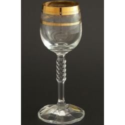 Рюмка для вина 150 мл Карина декор панто+ золото