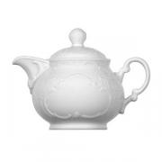 Чайник «Моцарт», фарфор, 350мл, белый