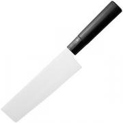 Нож кухонный «Накири» L=16.5см; металлич. , черный