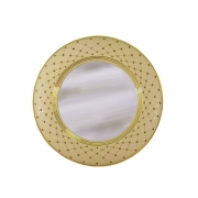 Зеркало настенное круглое Murano Cream Gold