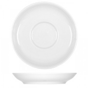 Блюдце «Бонн», фарфор, D=14см, белый