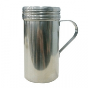 Емкость для сахарной пудры «Проотель», алюмин., 450мл, D=65,H=135,B=100мм, металлич.