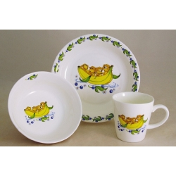 Детский набор посуды из 3-х предметов «Мартышки»