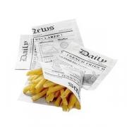 Конус для картофеля фри черно-белый [1000шт]; бумага; L=17,B=17см