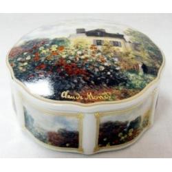 Шкатулка «Дом художника» 7 см, фарфор,серия Monet