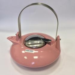 Чайник с ситечком 550мл цвет: Розовый
