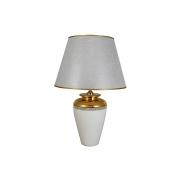 Настольная лампа с абажуром серебр.цвета Нью-Йорк (белый)