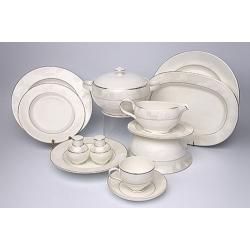 Сервиз столовый «Белый лист» на 6 персон 23 предметов