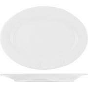 Блюдо овальное «Коллаж» L=25, B=18см; белый
