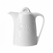 Кофейник «Оптик», фарфор, 650мл, H=120,L=190,B=85мм, белый