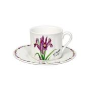 Чашка с блюдцем «Ирисы»