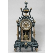 Часы с маятником цвет - синий 44х21см