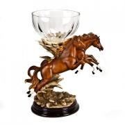 Статуэтка «Лошади с хрустальной вазой» 37*32см
