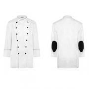 Куртка поварская 52 р.б/пуклей, полиэстер,хлопок, белый,черный