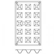 Форма для кондит.изд «Пирамида» 3.6*3.6 сил