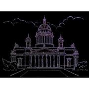 Исакиевский собор, 30х40 см,2456 кристаллов