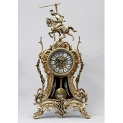 Часы «Всадник» с маятником золотистый 45х23 см.