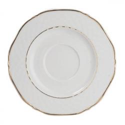 Блюдце «Афродита» с зол.d=16см фарфор