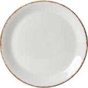 Тарелка мелкая «Браун дэппл» D=23см; белый, коричнев.