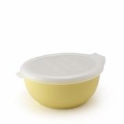 Фарфоровый лоток с пластиковой крышкой цвет -Молочный банан