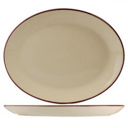 Блюдо овал «Кларет» 20.25см фарфор