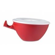 Миска с крышкой и держателем «Лум» (Loomm) Rosti Mepal 20,5 x 16,6 x 8,5см (красный)