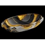Салатник овальный 38 см BAMBOO золотой мат