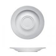 Блюдце «Карат», фарфор, D=160,H=18мм, белый