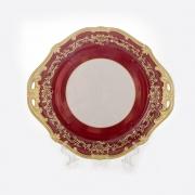 Блюдо круглое 28 см «Ювел красный»