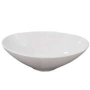 Салатник овальный «Кунстверк», фарфор, 530мл, H=50,L=200,B=125мм, белый
