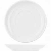 Блюдце для бульон. чашки арт. фк376 «Коллаж» D=15.5см; белый
