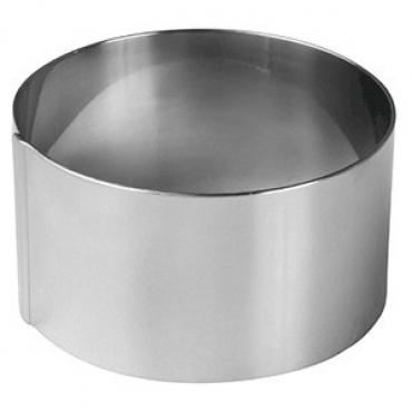 Кольцо кондитерское «Проотель», сталь нерж., D=75,H=40мм, металлич.